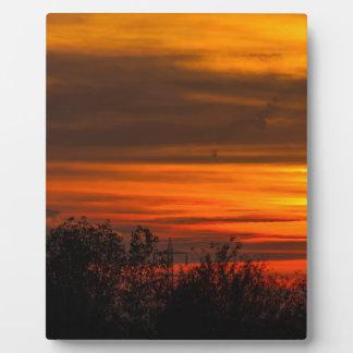sunset in winter plaque