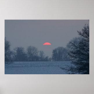 sunset in winter print