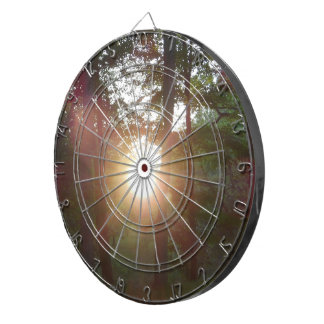 Sunset in Woods Dartboard