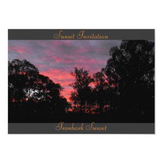 Sunset Invitation Template