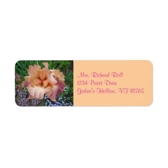 Sunset Iris Return Address Labels