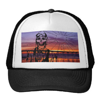 Sunset Kamikaze Pilot Baseball Trucker Hat Cap