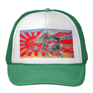 Sunset Kamikaze Pilot Divine Wind Hat Customized
