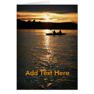 Sunset Kayaking Note Card
