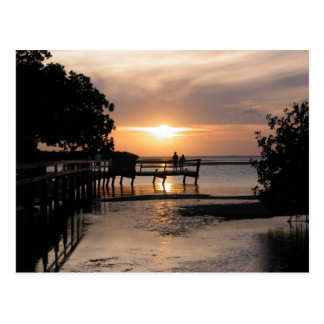 Sunset Key West Florida Postcard