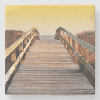 Sunset Kiawah Island, South Carolina Marble Coaste Stone Coaster