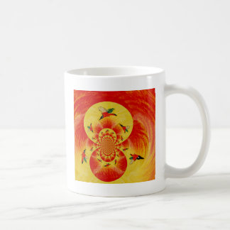 Sunset Kingfisher Abstract Bird Art Coffee Mug