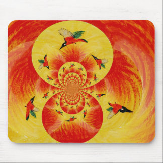 Sunset Kingfisher Birds Mouse Pad
