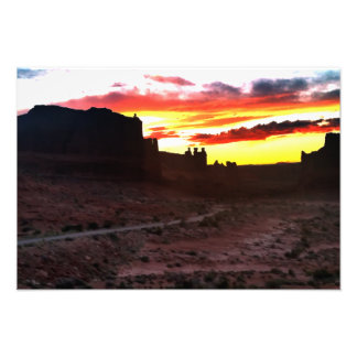 Sunset La Sal Mountains Viewpoint Arches National Photo Art