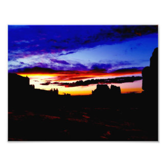 Sunset La Sal Mountains Viewpoint Arches National Photograph