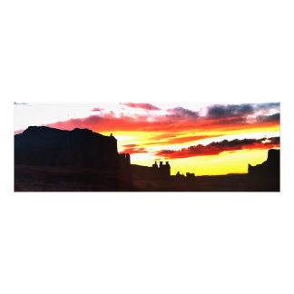 Sunset La Sal Mountains Viewpoint Arches National Photographic Print