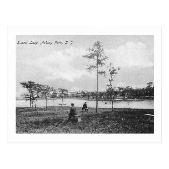 Sunset Lake, Asbury Park, New Jersey Vintage Postcard