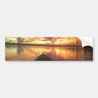 Sunset Lake Bumper Sticker