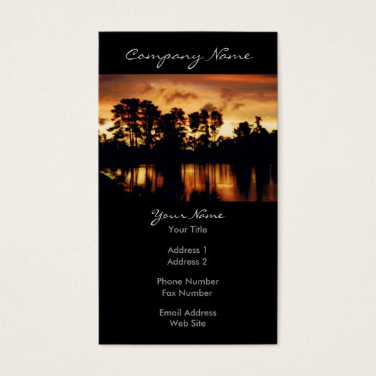 Sunset Lake Photo Business Card