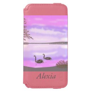 Sunset lake scene with swans, incipio watson™ iPhone 6 wallet case