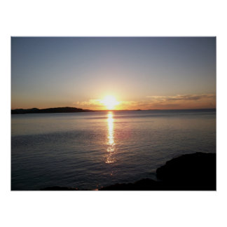 Sunset Lake Superior Marquette Photo Poster