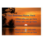 Sunset lake trees Business Cards