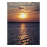 Sunset Lake (vertical) Poster