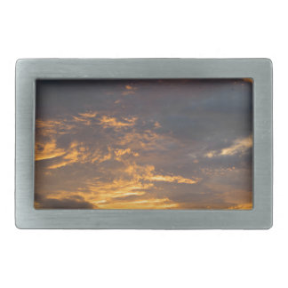Sunset landscape. belt buckle