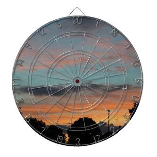Sunset Landscape Dartboard