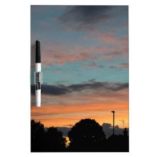 Sunset Landscape Dry Erase Board