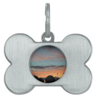 Sunset Landscape Pet Name Tag