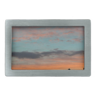 Sunset Landscape Rectangular Belt Buckle