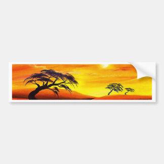 Sunset Landscape Scenery - Multi Bumper Sticker
