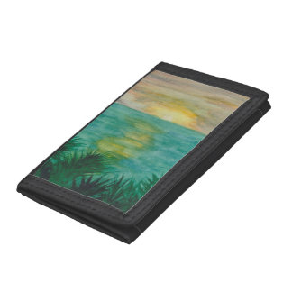Sunset Landscape Trifold Wallets