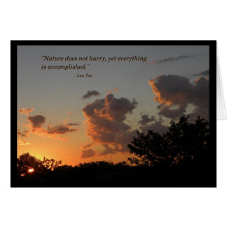 Sunset - Lao Tzu quotes Card