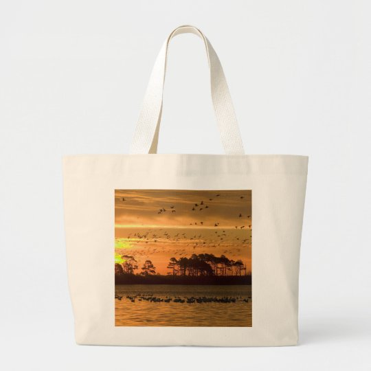 Sunset Large Tote Bag