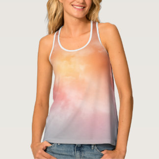 Sunset Lavendars and Orange Touches Tank Top