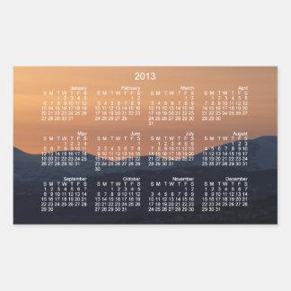 Sunset Layers; 2013 Calendar Rectangular Sticker