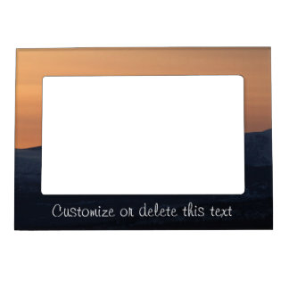 Sunset Layers; Customizable Magnetic Photo Frame