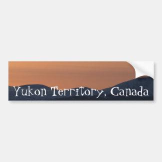 Sunset Layers; Yukon Territory Souvenir Bumper Sticker