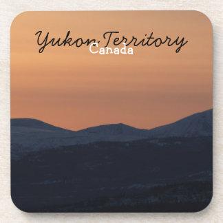 Sunset Layers; Yukon Territory Souvenir Drink Coaster