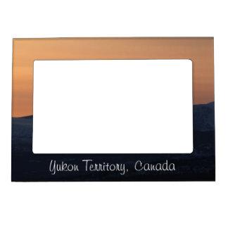 Sunset Layers; Yukon Territory Souvenir Frame Magnets