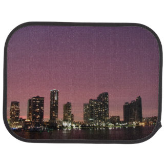 Sunset light over Miami after a storm Car Mat
