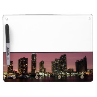 Sunset light over Miami after a storm Dry Erase Board With Key Ring Holder