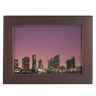 Sunset light over Miami after a storm Memory Boxes