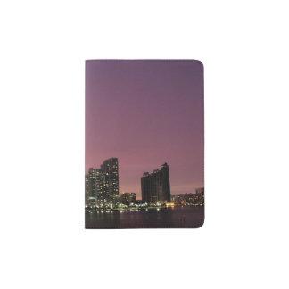 Sunset light over Miami after a storm Passport Holder