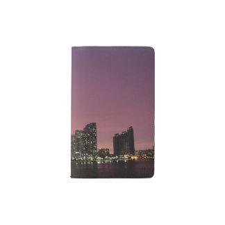 Sunset light over Miami after a storm Pocket Moleskine Notebook