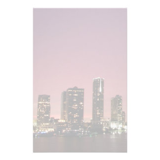 Sunset light over Miami after a storm Stationery