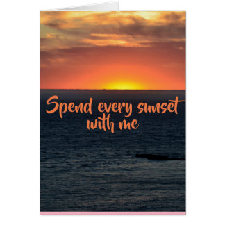 Sunset Love and Romance cards