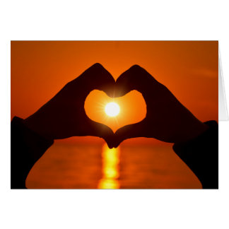 Sunset Love is patient, love is kind Card