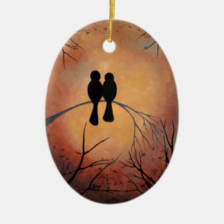 Sunset Lovebirds Ornament