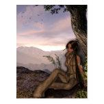 Sunset Maiden Native American Fantasy Postcards