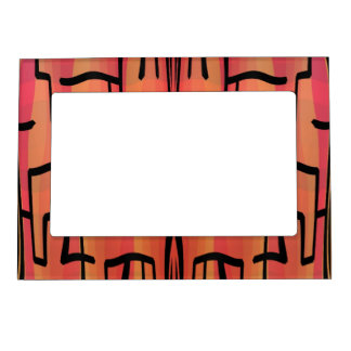 Sunset Maze - Abstract Magnetic Frame