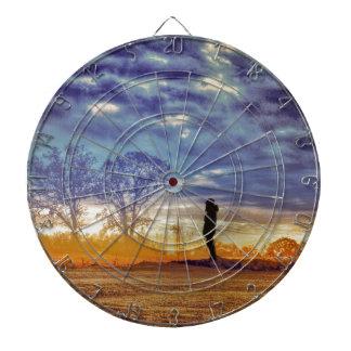 Sunset Meditation Dartboard