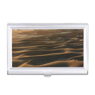 Sunset, Meyers Beach, Oregon, USA 2 Business Card Holder